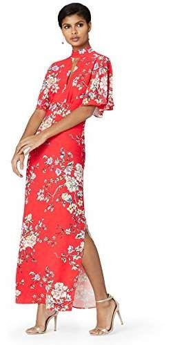 Marca Amazon – TRUTH & FABLE Vestido de noche largo con abertura en la cerradura y aberturas laterales para Mujer  – Moda