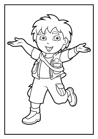 go diego go coloring pages to print - Google Search   party ideas ...