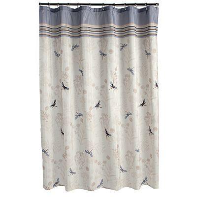 Dragonfly Shower Curtain New Theme For Bathroom Croft Barrow Kohls