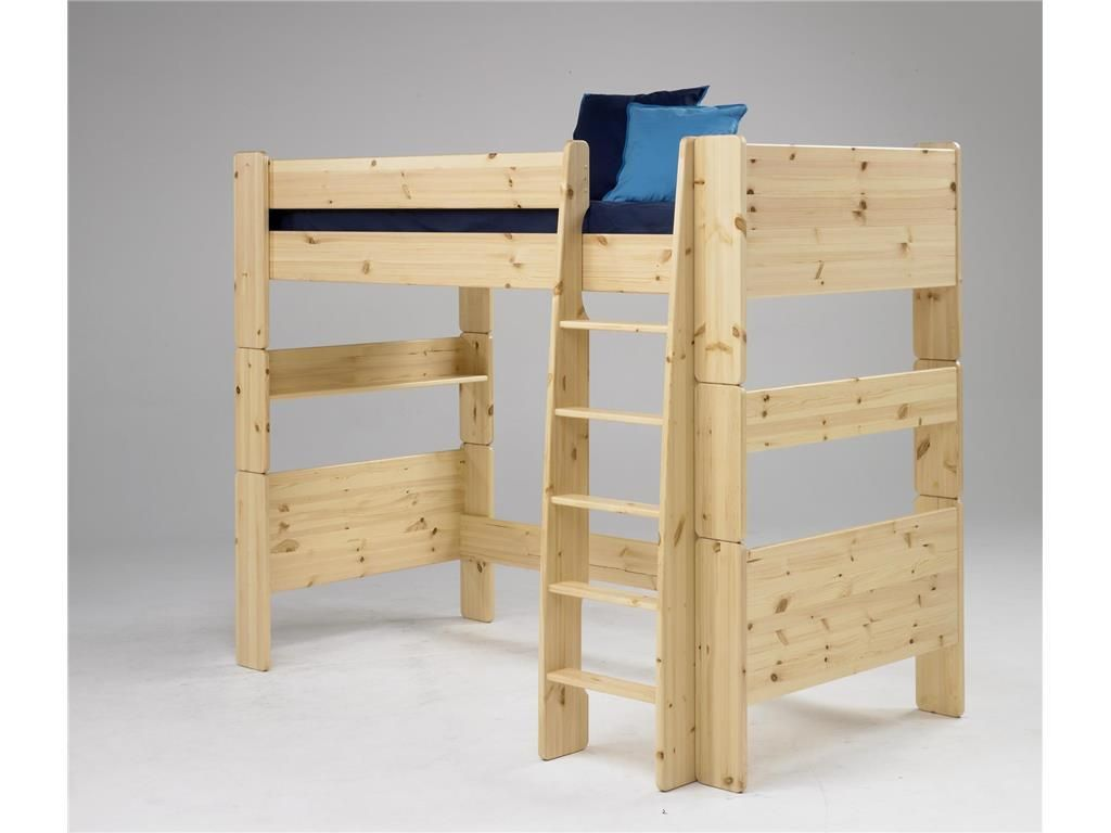 Steens Etagenbett Weiß : Steens for kids hochbett mit rolllattenrost und gerader leiter