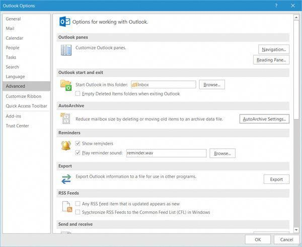 Auto Archive Your Items In Outlook 2016 On Windows 10 Auto