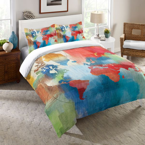 Laural home colorful world map comforter dream space pinterest laural home colorful world map comforter gumiabroncs Gallery
