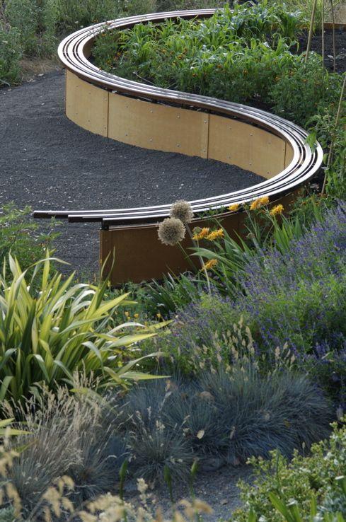 Curved Bench Garden Of Edibles And Perennials Garden