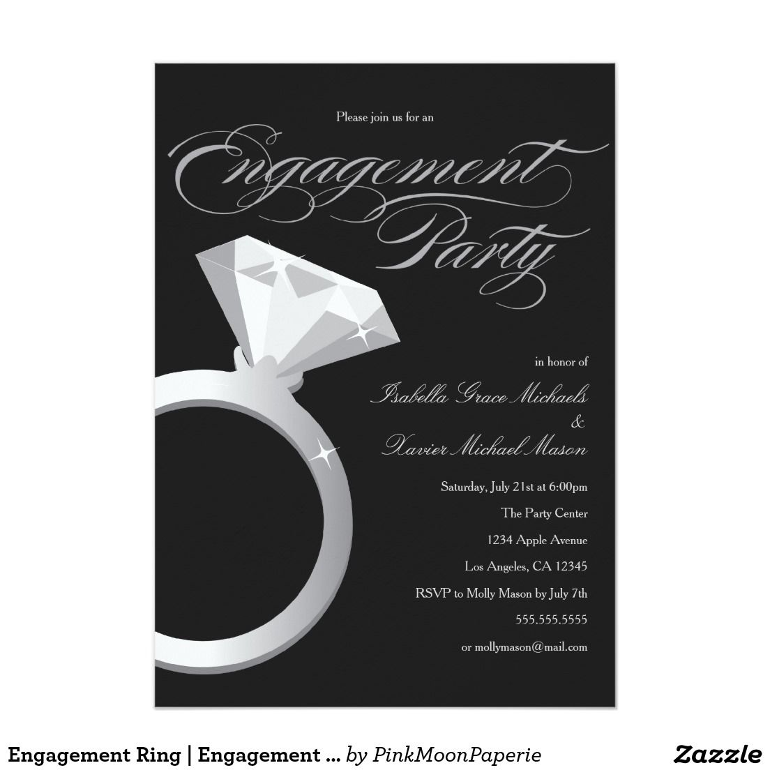 Engagement Ring   Engagement Party Invitation   Engagement party ...