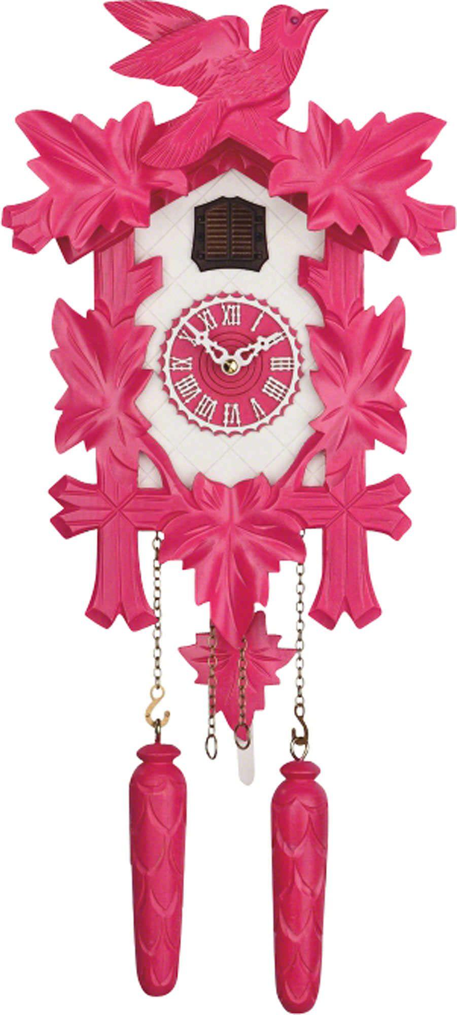 Cuckoo Clock Quartz Movement Modern Art Style 35cm By Trenkle Uhren 350 20 Q Pink Weiss Modern Cuckoo Clocks Modern Art Styles Clock