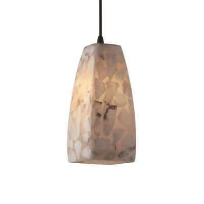 Justice Design Group Alabaster Rocks 1 Light Pendant & Reviews | Wayfair