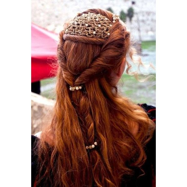 Medieval Hair Braid And Ornament Medieval Inspired Clothing Hair Liked On Polyvore Featuring Accessori Hair Styles Renaissance Hairstyles Medieval Hairstyles
