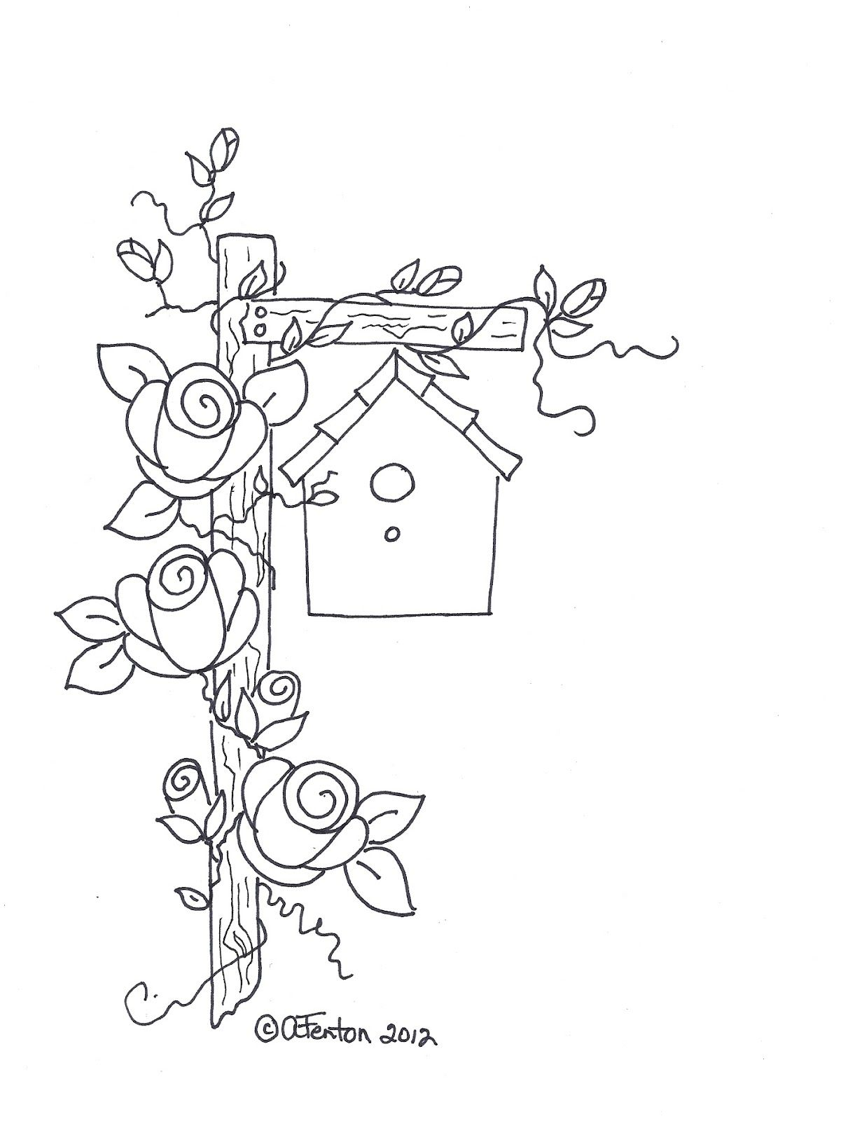 diy  embroidery idea birdhouse  u0026 roses would be pretty to