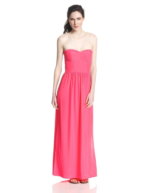 Mimosa Silk Strapless Maxi Gown Dress by Amanda Uprichard