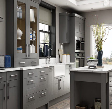 Wickes tiverton slate kitchen kitchen home for Kitchen 0 finance wickes