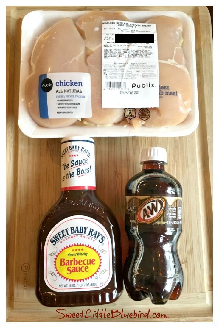 Easy Slow Cooker Root Beer BBQ Chicken - 3 Ingredients