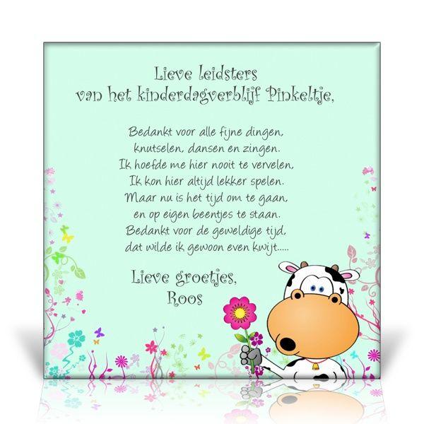 Favoriete gedicht voor afscheid kdv | Crea kids - Quotes for kids, Kids &YR05