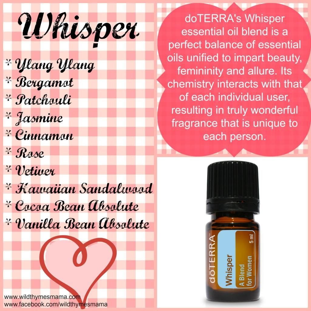 Doterra S Whisper Essential Oil Blend Doterra Essential