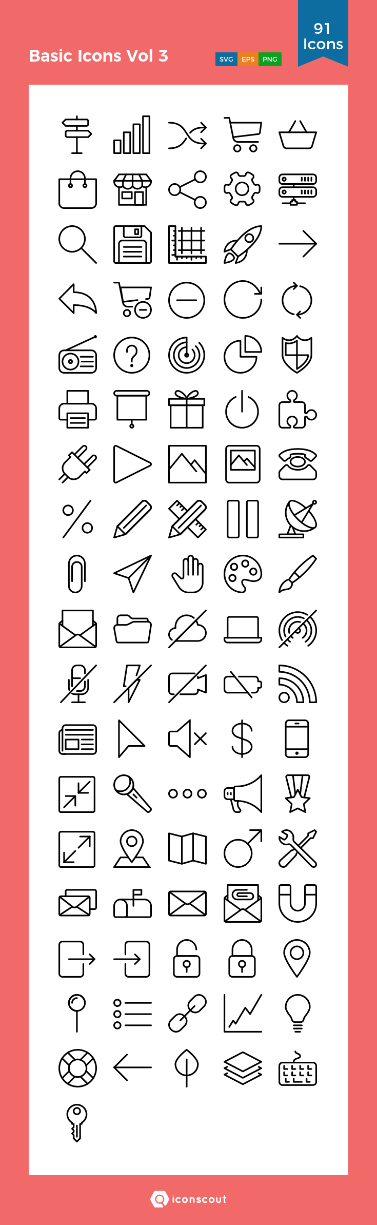Download Basic Icons Vol 3 Icon Pack Available In Svg Png Eps Ai Icon Fonts Icon Pack Icon Icon Font