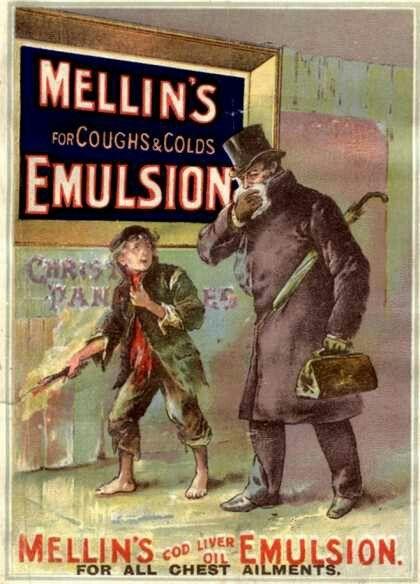 Mellin's Emulsion Coughs, Colds and Flu Medicine, UK (1890)