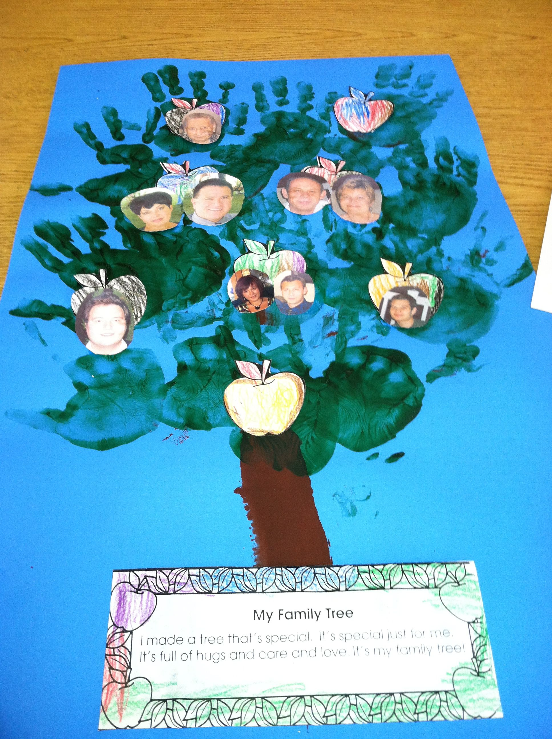 Handprint Family Tree w/poem (With images)   Handprint ...