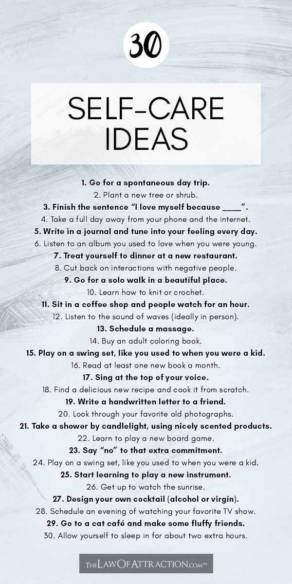 81 Self-Care Ideas And Activities To Add To Your Self-Care ...
