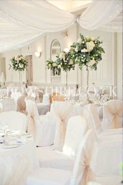 Ceiling Drapery For Weddings And Events In Kent Sussex Surrey And London Chair Covers Wedding White Wedding Decorations White Wedding Theme