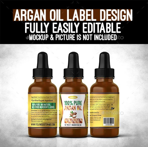 Argan Oil Bottle Label  Argan Oil Label Templates And Bottle
