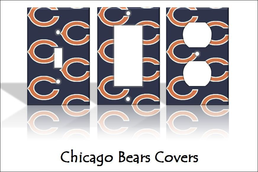 Chicago Bears Light Switch Covers U0026 Wall Plates   Home Decor Pattern Outlet  NFL. $5.00