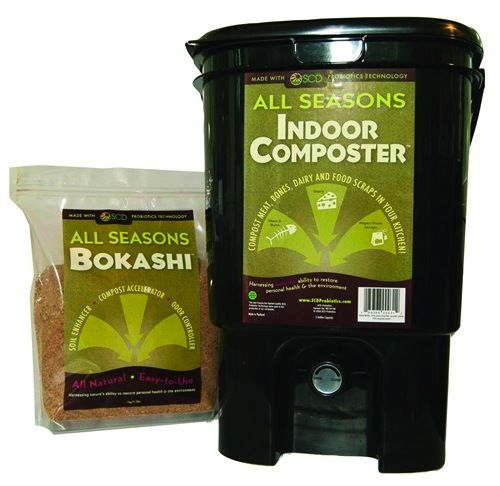 """Bokashi is a method of composting developed in Japan that uses microbes to decompose food, effectively fermenting it so that it doesn't smell as it is breaking down. Besides lack of smell, another advantage with bokashi is that all food, including meat, fish and dairy, can be composed with this system."""