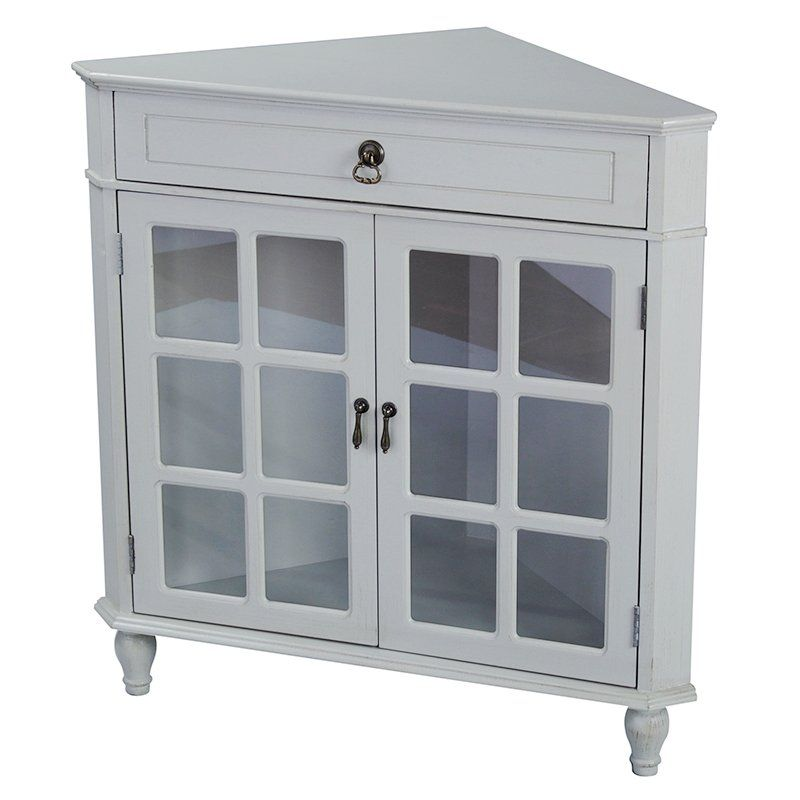 Parina 1 Drawer 2 Door Accent Cabinet Corner Cabinet Accent Cabinet Glass Cabinet Doors