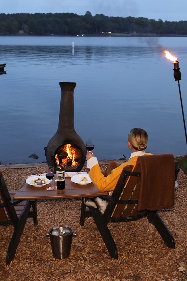 The Lakeside Chiminea Dinner for two is the perfect
