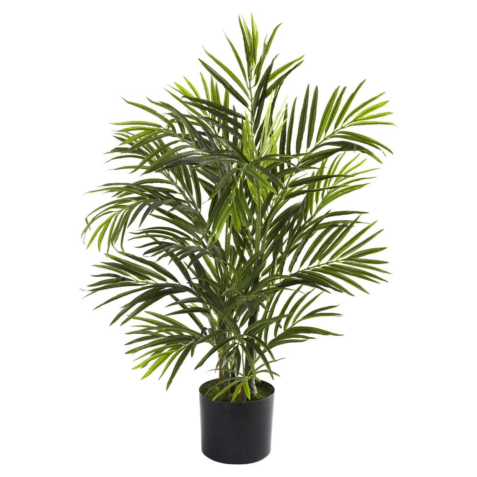 Nearly Natural 2.5 ft. Areca UV Resistant Silk Palm Tree - 5387