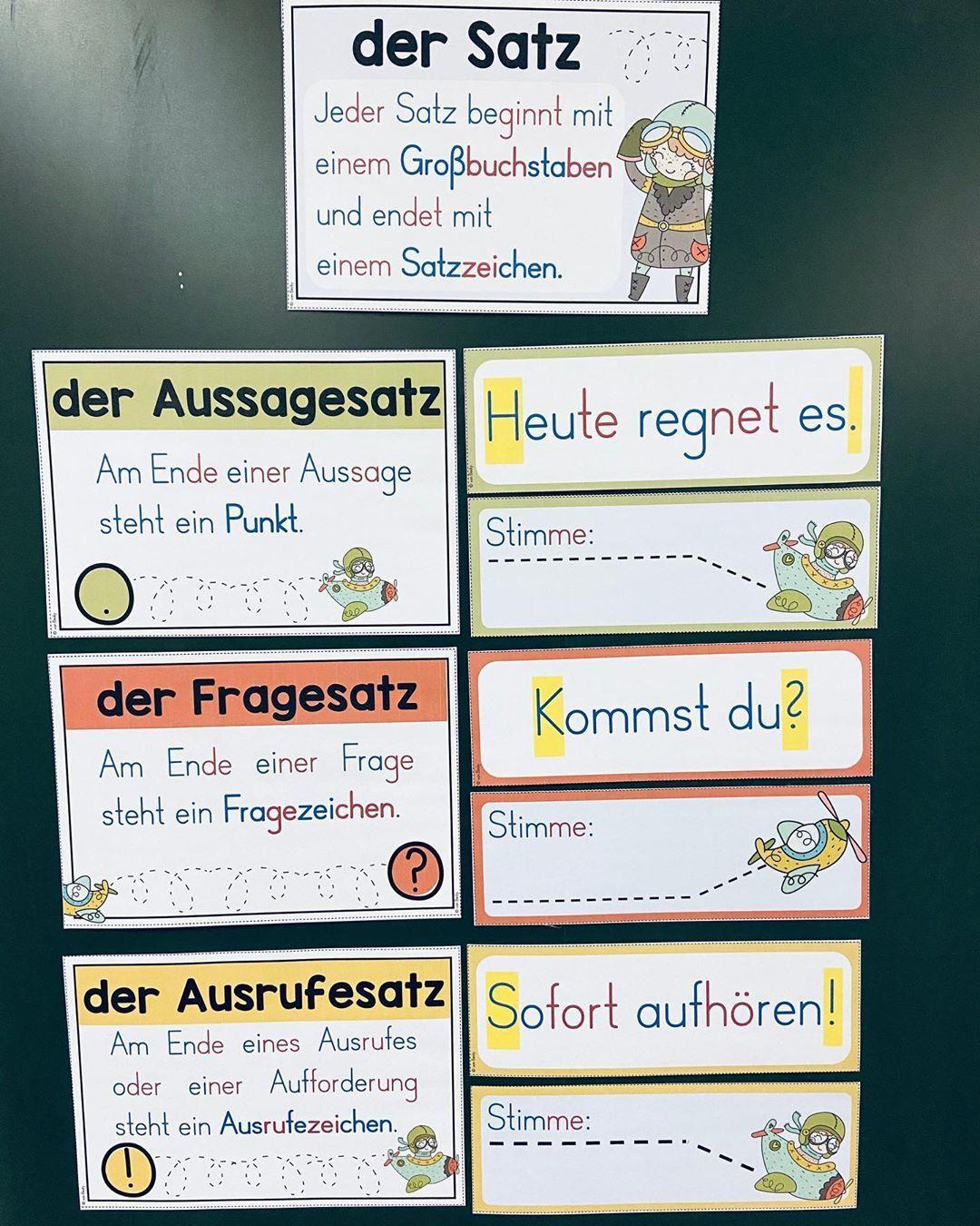 Satzarten (Merkposter) – Unterrichtsmaterial in den Fächern DaZ/DaF & Deutsch