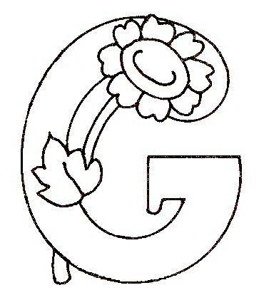 Alphabet fleur paquerette coloriages 2 3 ans alphabet paquerette et fleurs - Coloriage fleur 3 ans ...