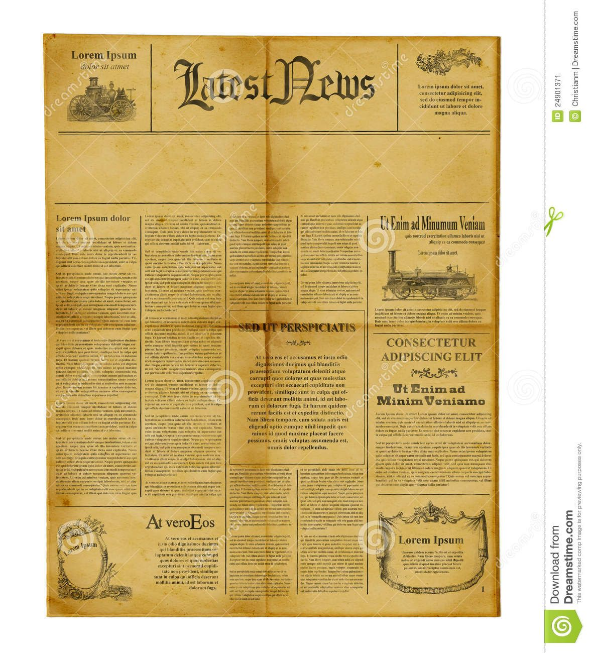 Old Newspaper Template Templates Powerpoint Microsoft Word