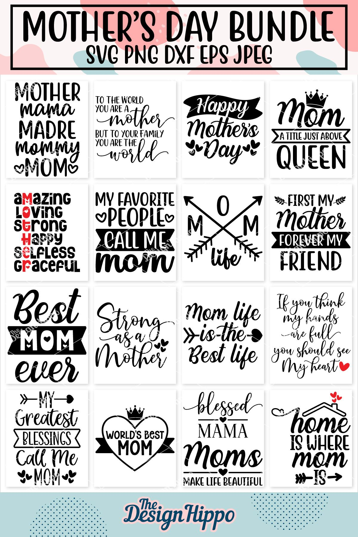 Free Mothers day simple hand drawn svg flower art word. Pin On Svg Design Files On Etsy SVG, PNG, EPS, DXF File