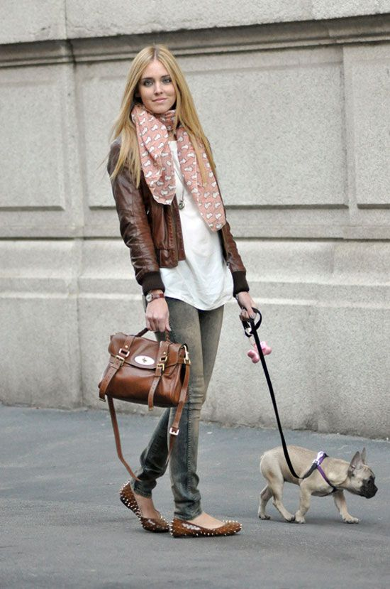 Chiara and Matilda (a fave fashion blogger and her adorable Frenchie)