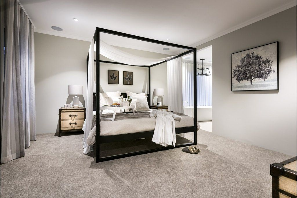 Strand 4 Poster Bed Black Oak Queen By Uniqwa Furniture Black