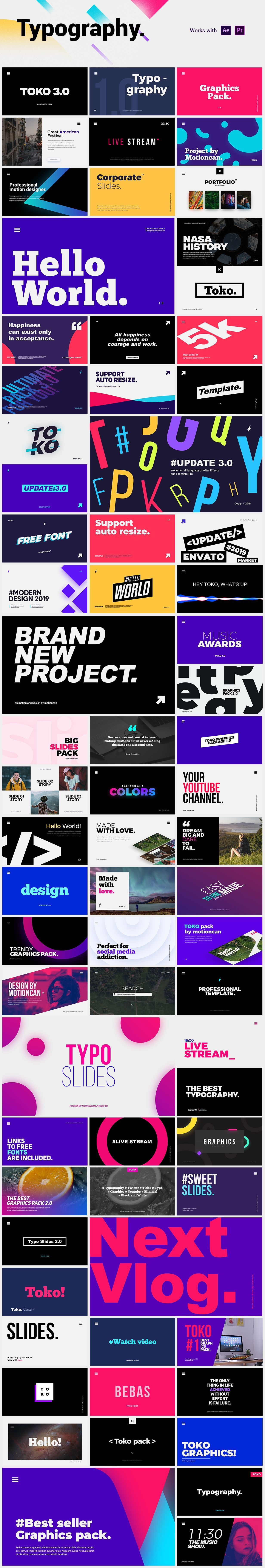 Graphics pack typography graphic graphic logo reveal