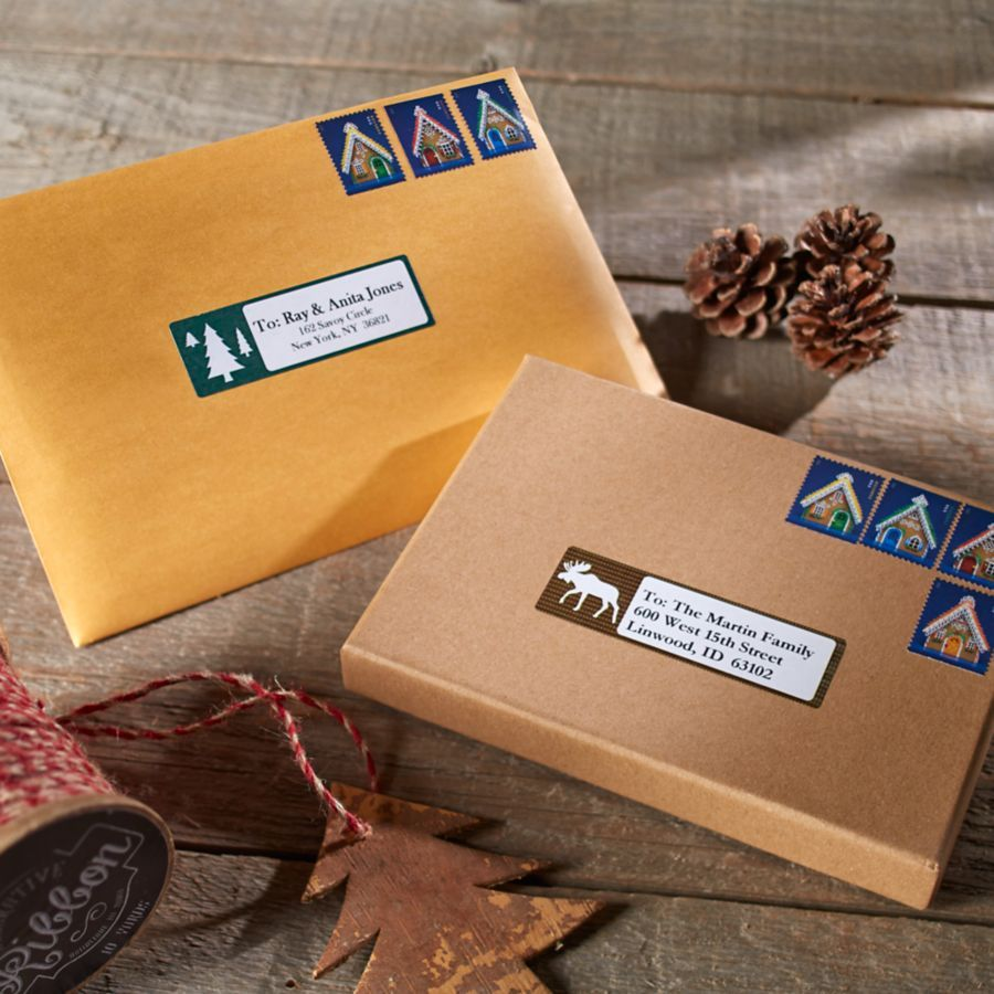 Holiday Labels And Stamps Are An Easy Way To Make Greeting