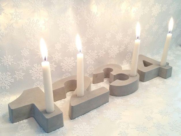 Adventskranz Pur Betonzahlen Beton Advent Kerzen Advent Kerzen