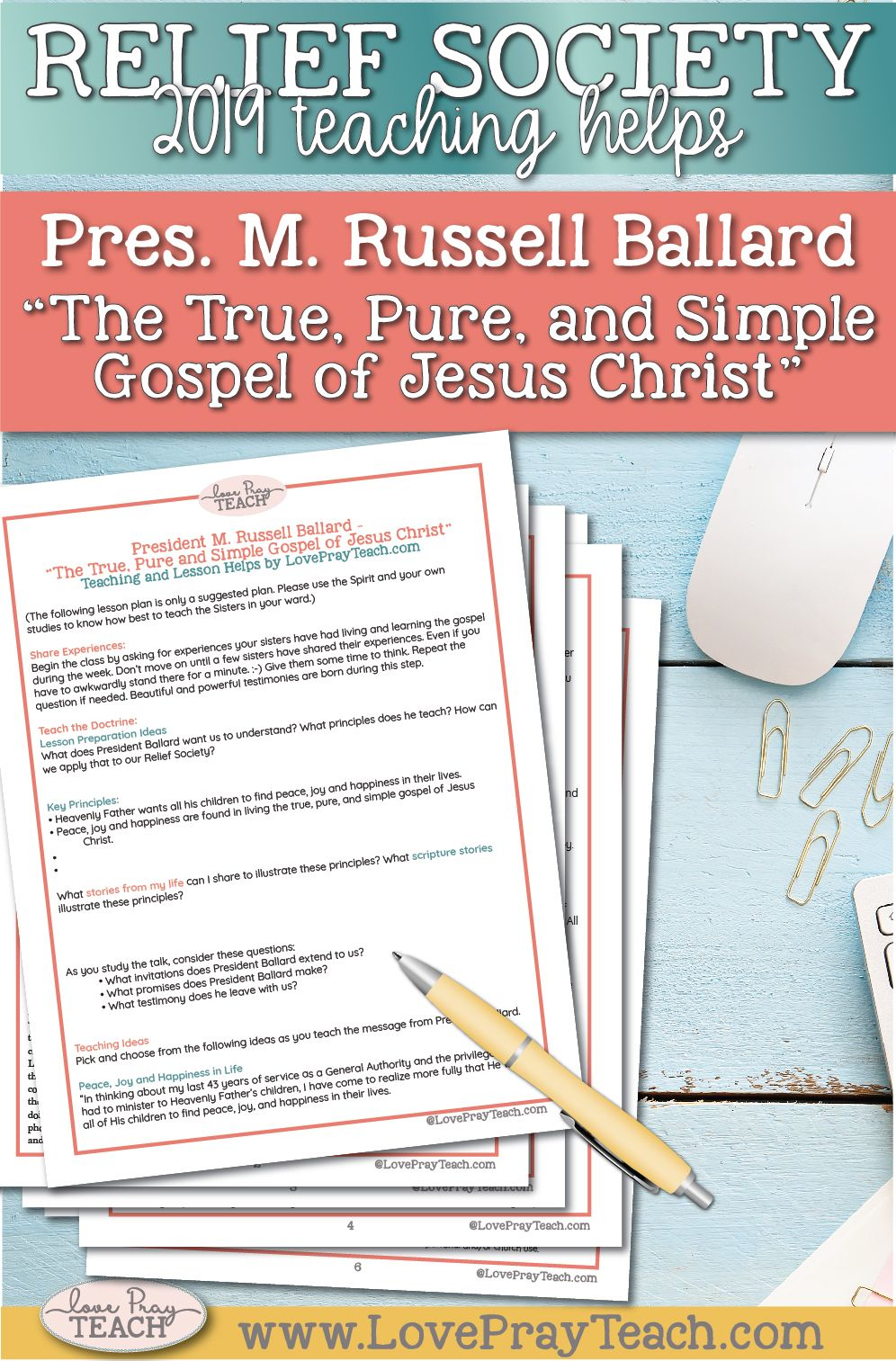 President M Russell Ballard The True Pure And Simple Gospel