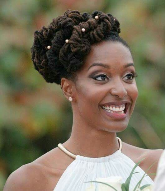Wedding Hairstyles In Uganda: Natural Hair Bride With Dreads