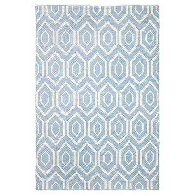 Safavieh Dhurries Blue & Ivory Area Rug Rug Size: 10' x 14'