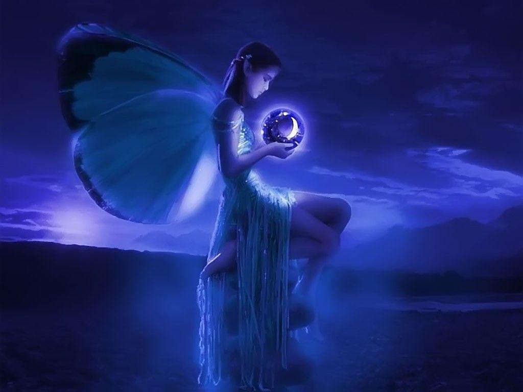 free screen savers fairys | Free PRETTY BLUE FAIRY Wallpaper ...
