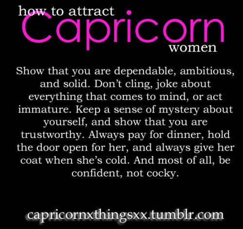 What capricorn woman likes and dislikes