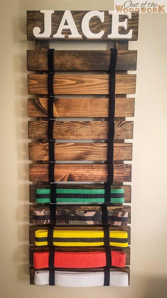 15 Level martial arts belt display rack kartate holder ata