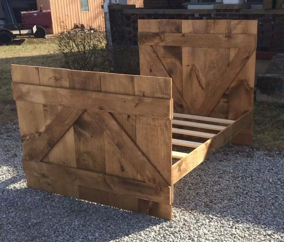 Rustic Barn Siding Bed