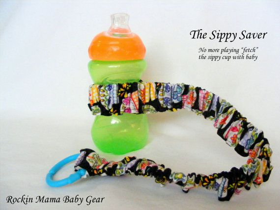 Sippy Saver Sippy Cup Strap handmade by Rockin Mama Baby Gear