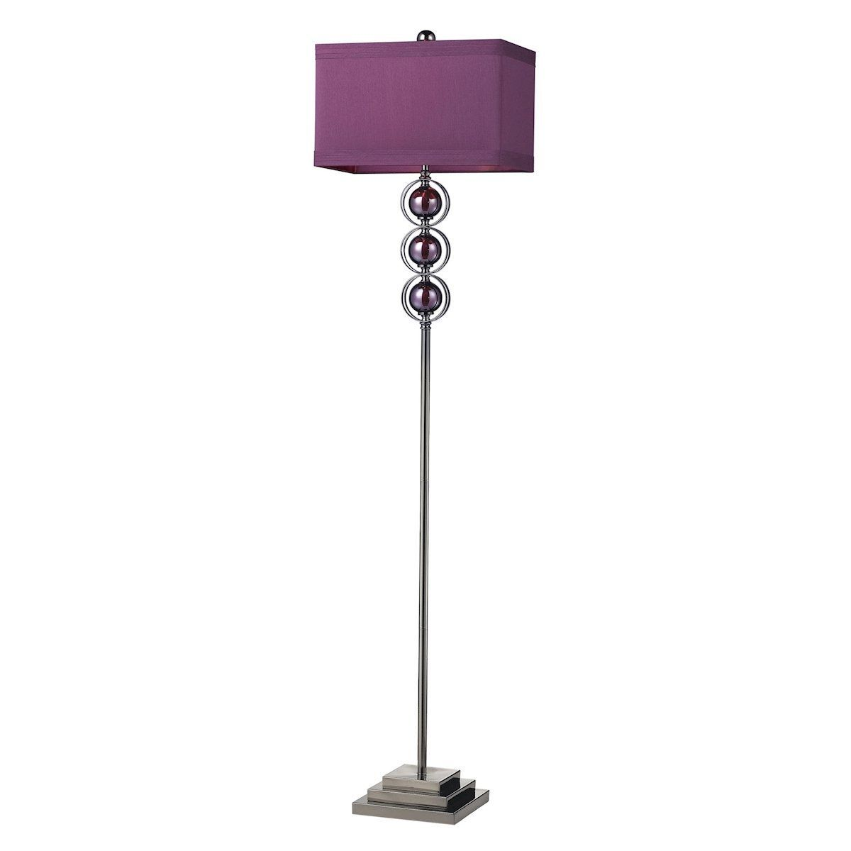 Alva contemporary floor lamp in black nickel and purple by dimond alva contemporary floor lamp in black nickel and purple by dimond lighting aloadofball Gallery