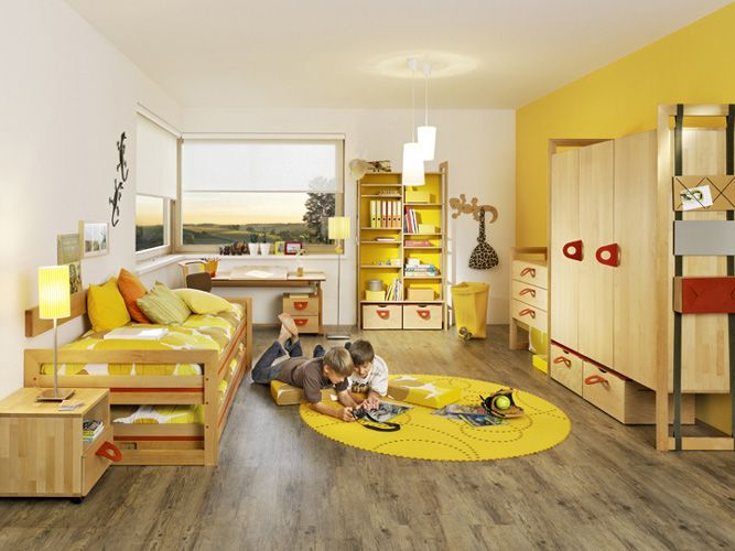 Yellow Wood Floors Yellow Kids Rooms Yellow Boys Room Kids Room Furniture