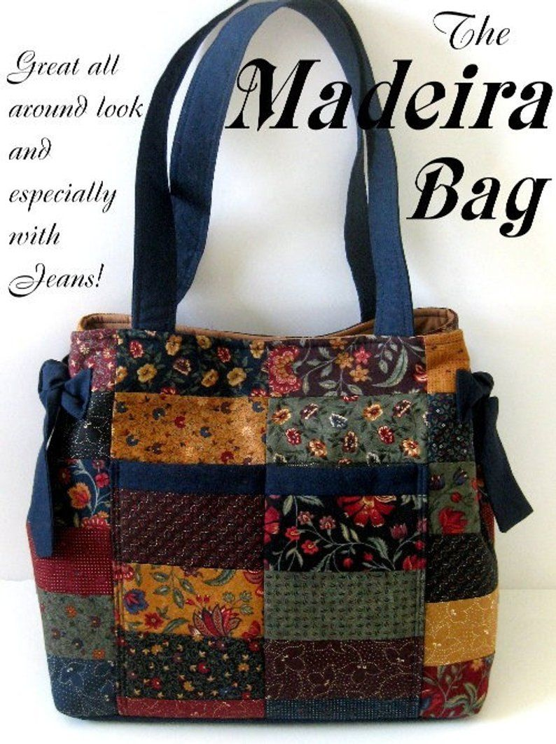 MADEIRA BAG – Purse / Tote Bag KIT Moda Kansas Troubles Quilters Fabric + Pattern