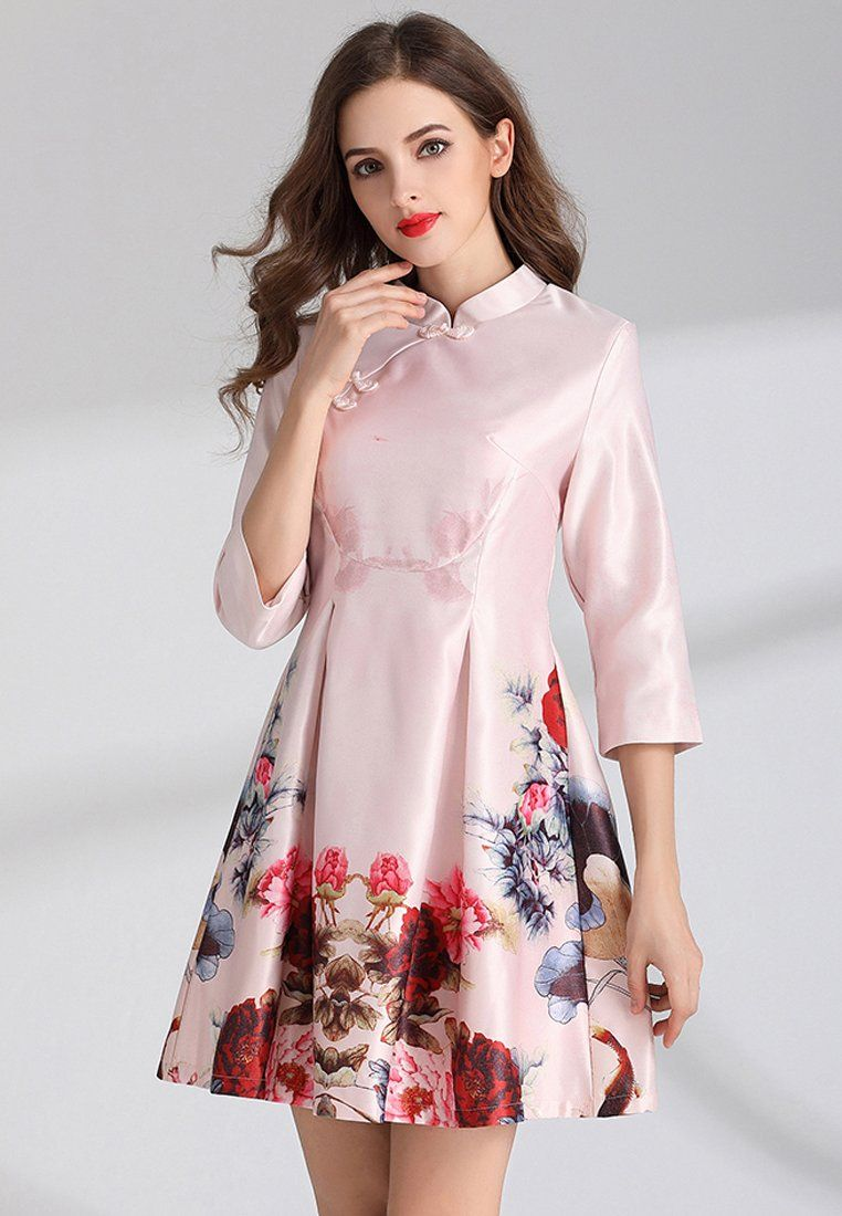Now available    Printed Chi-Pao S...  Shop Now  http://nbrandfashion.com/products/printed-chi-pao-style-a-line-dress-nr1112-pnk?utm_campaign=social_autopilot&utm_source=pin&utm_medium=pin
