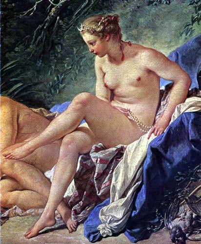 Boucher El Bano De Diana.Francois Boucher Diana En El Bano Detalle 1742